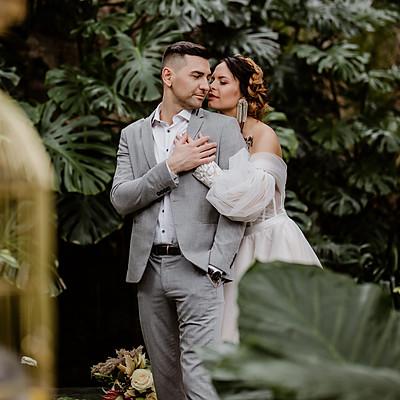 Vestuvių fotosesija Kretingos botanikos sode | K+T