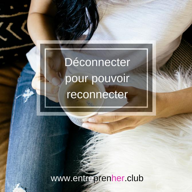 Déconnecter pour pouvoir reconnecter