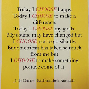 My chronic Illness does define me and I choose a positive definition!