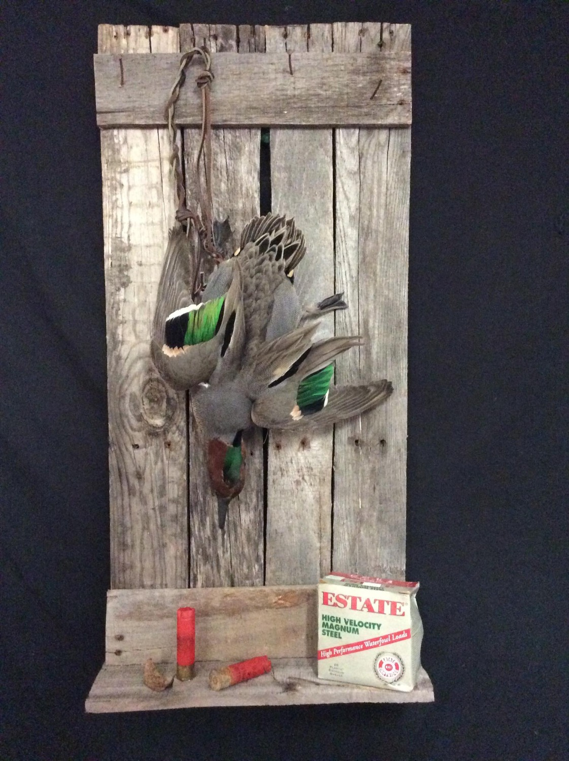 Green Wing Teal Strap Mount