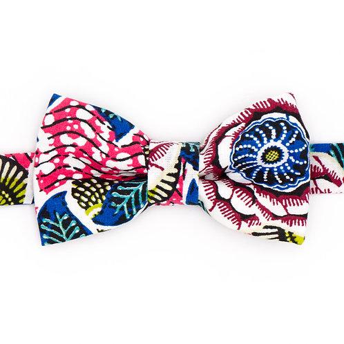Noeud papillon motifs Fleuri Dahlia Rose