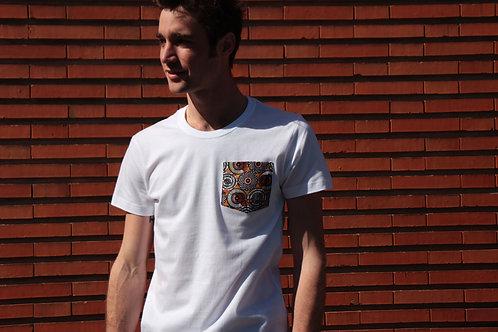 T-shirt poche - Orange Mali