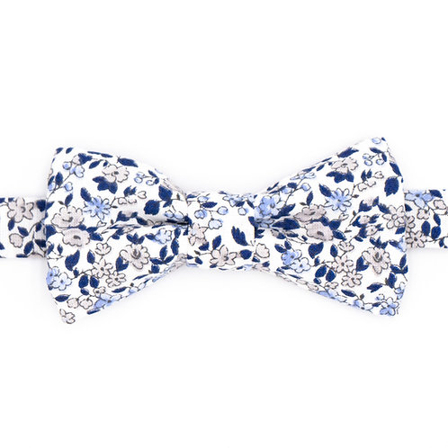 Noeud papillon motifs liberty bleu