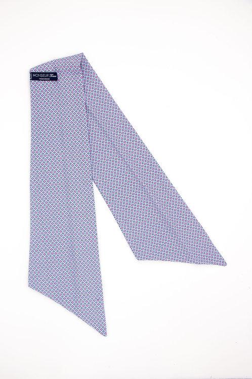 Bandeau motifs géométriques British bleu clair