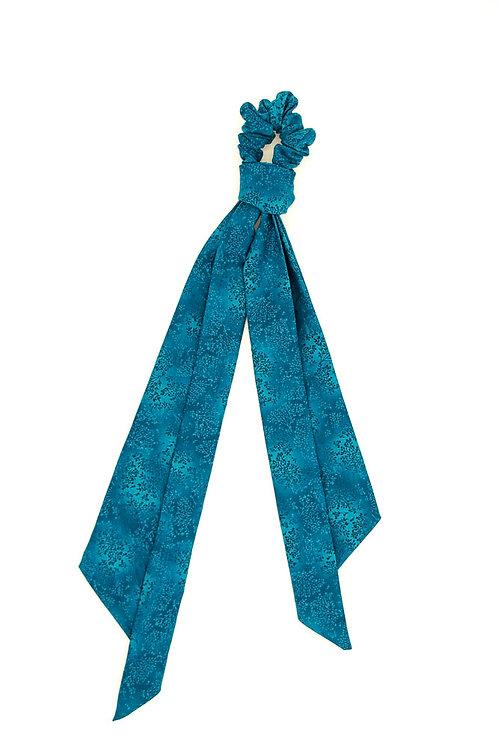 Foulchie fleuri motif japonais bleu bondi