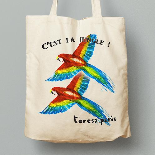 Tote bag - Perroquets