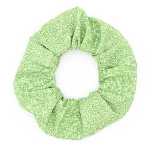 Chouchou uni vert amande