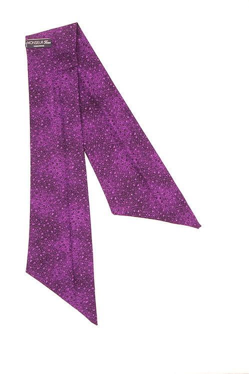 Bandeau fleuri motif japonais violet byzantium