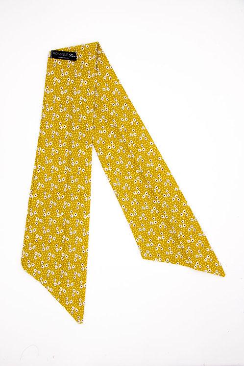 Bandeau fleuri jaune moutarde