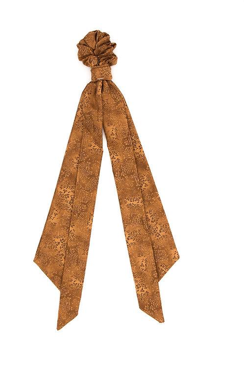 Foulchie fleuri motif japonais camel