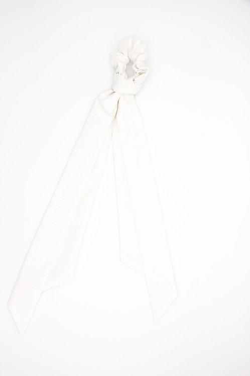 Foulchie blanc neige uni