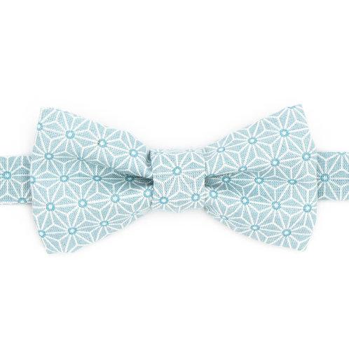 Noeud papillon motifs Géométrique Bleu givré