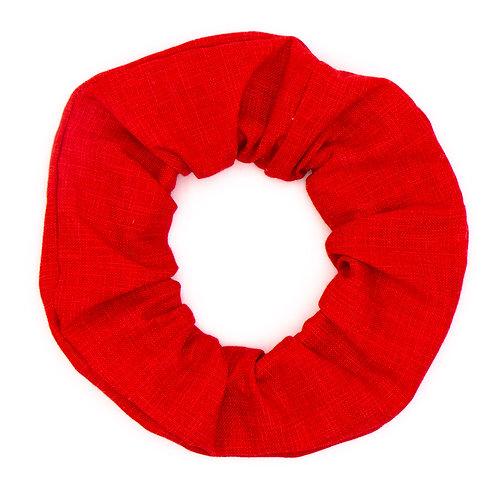 Chouchou rouge Garance uni
