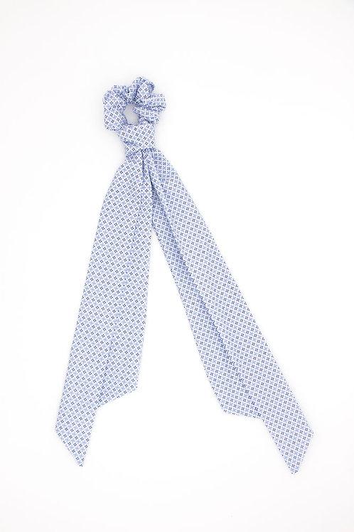 Foulchie motifs géométriques British bleu pâle