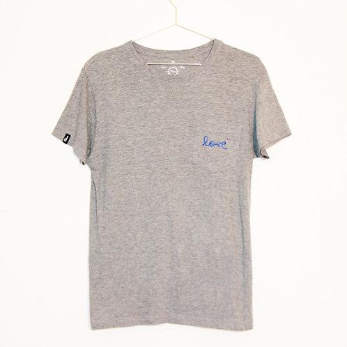 T-shirt - LOVE - Gris/Bleu unisexe