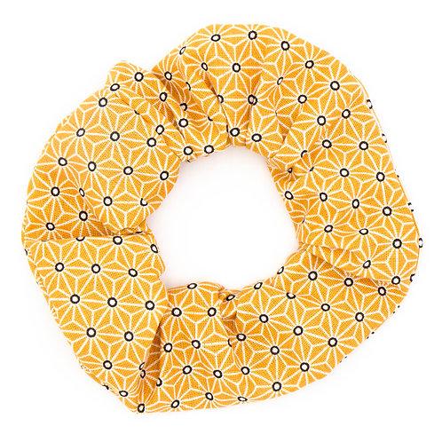 Chouchou Motifs géométriques Moutarde