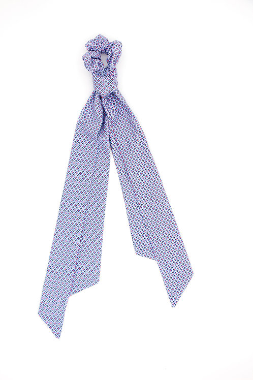 Foulchie motifs géométriques British bleu clair