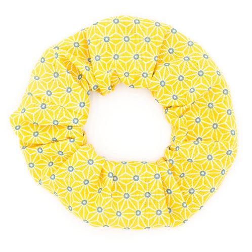 Chouchou Motifs géométrique Jaune citron