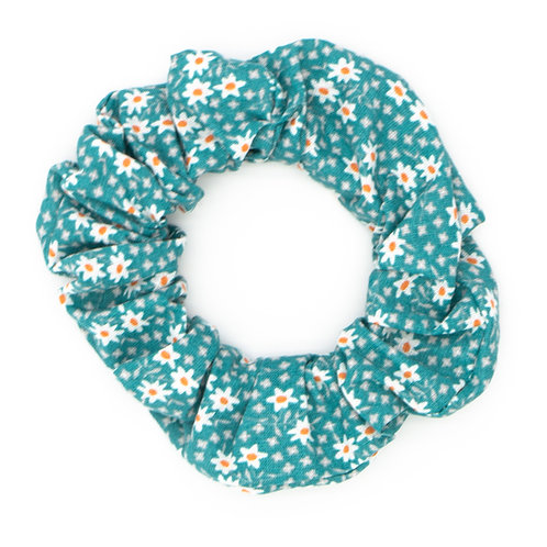 Chouchou fleuri bleu Tiffany