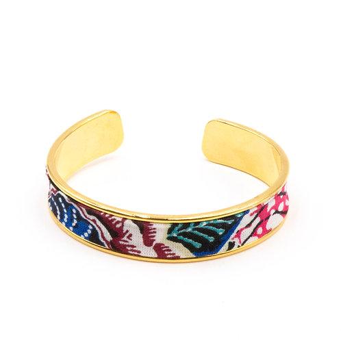 Bracelet laiton doré - Flowers of Exeter