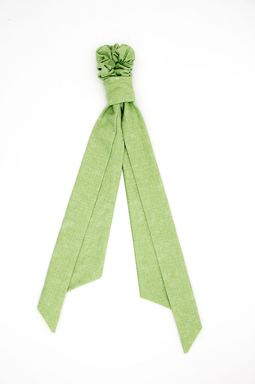 Foulchie vert amande uni