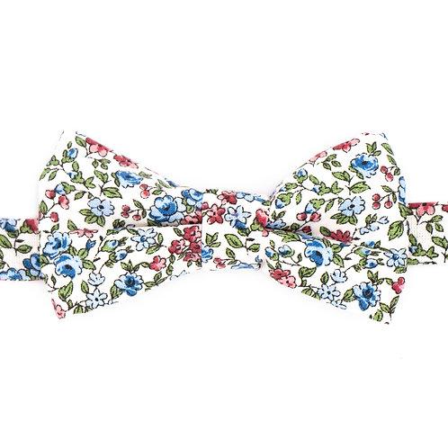 Noeud papillon motifs liberty bleu et rose