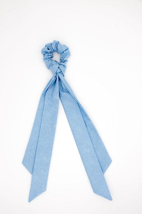 Foulchie bleu pervenche uni