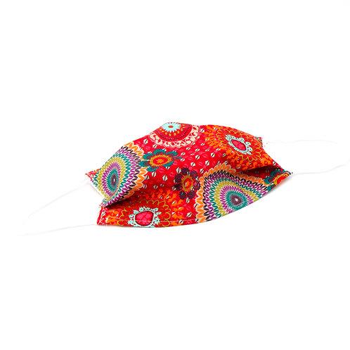 Masque en tissu à plis New Delhi - normes AFNOR