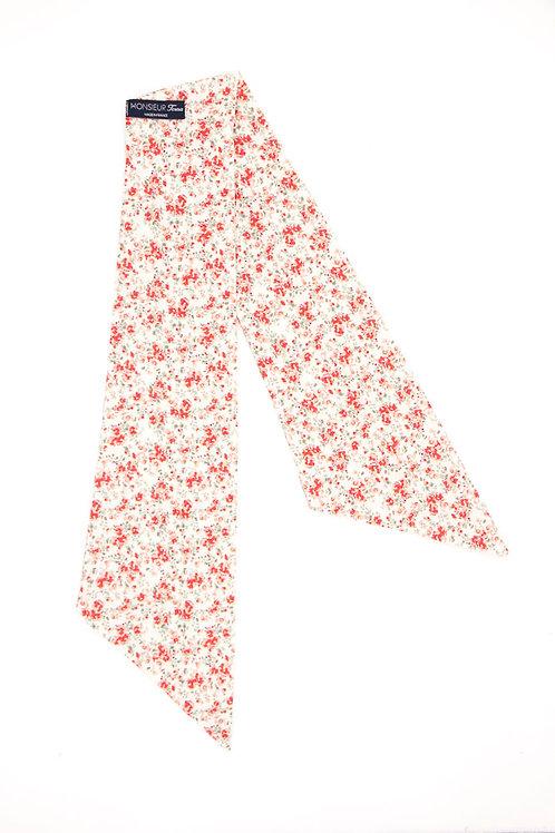 Bandeau fleuri motif Liberty coquelicot