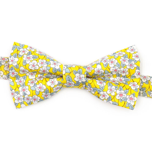 Noeud papillon Liberty fabrics - Ffion jaune