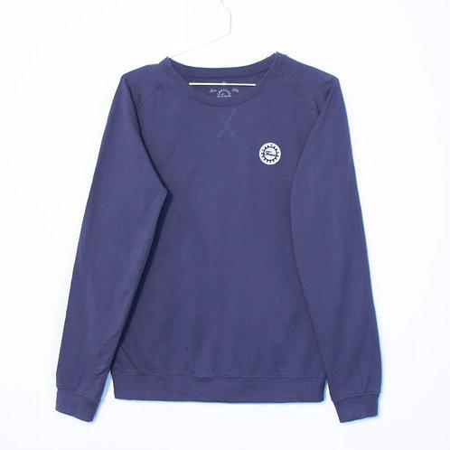 Pull Léger - Coudières Blue Mali / Roses - Bleu Denim Unisexe