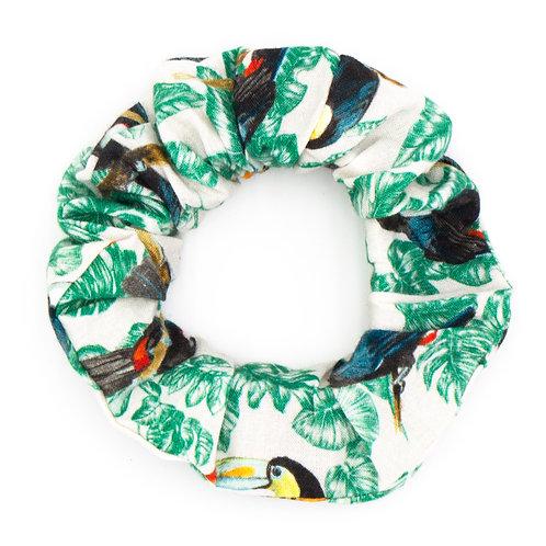 Chouchou fantaisie toucans
