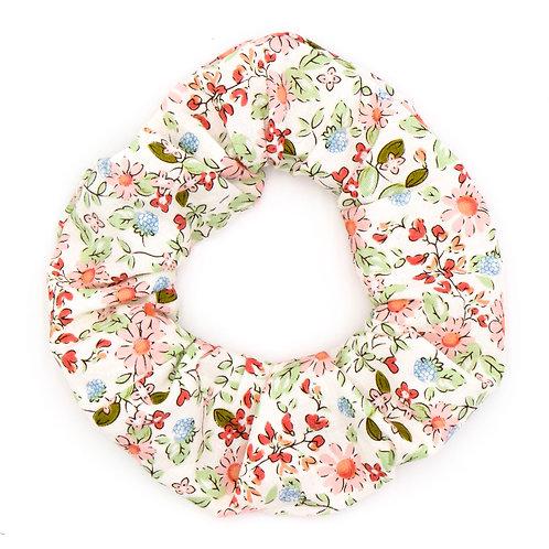 Chouchou fleuri motif Liberty camomille