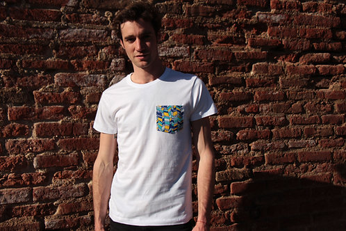 T-shirt poche - Blue Waves