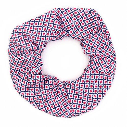 Chouchou motifs géométriques British rouge
