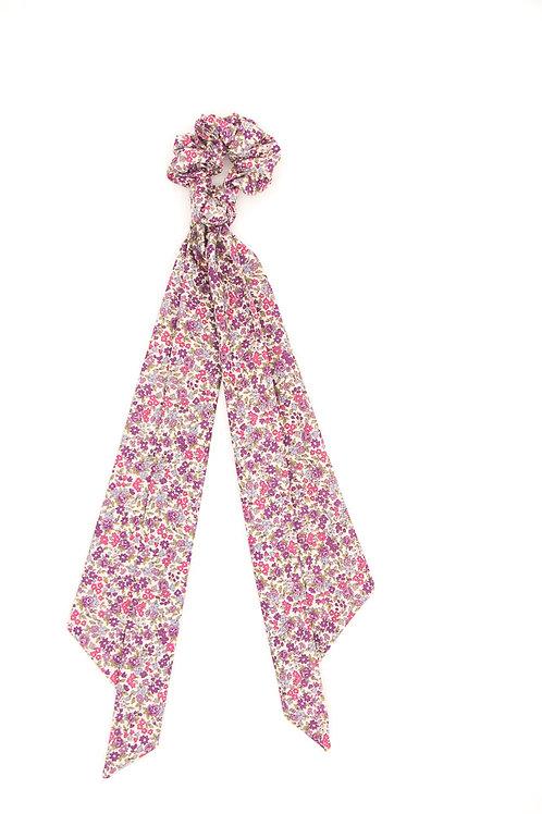 Foulchie fleuri motif Liberty violet