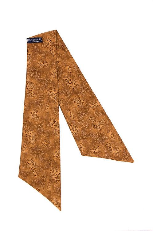 Bandeau fleuri motif japonais camel