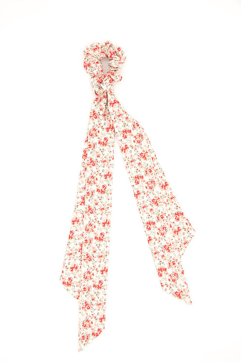 Foulchie fleuri motif Liberty coquelicot