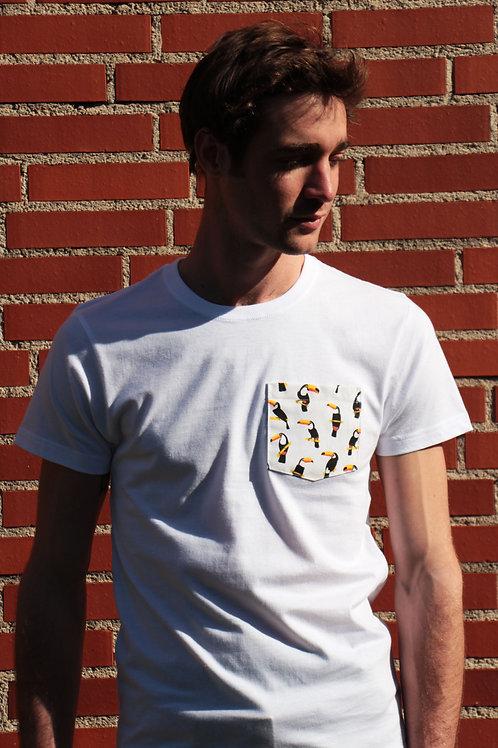 T-shirt poche - Toucan