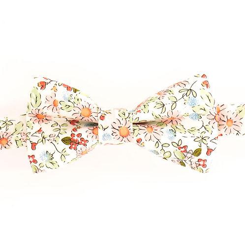 Noeud papillon fleuri motifs Liberty camomille