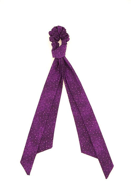Foulchie fleuri motif japonais violet byzantium