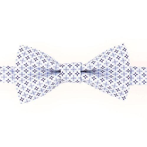 Noeud papillon motifs géométriques British bleu pâle