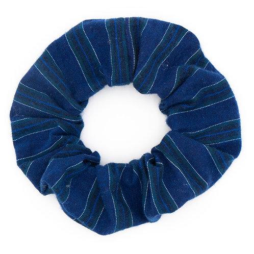 Chouchou laine bleu à rayures