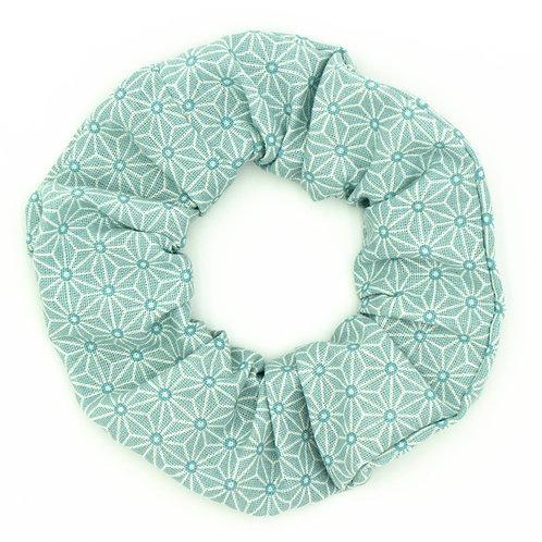 Chouchou Motifs géométriques Vert menthe