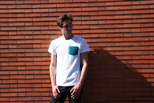 T-shirt poche - Blue Japan
