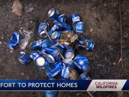 Guy Uses a 30-Pack of Bud Light to Save Home From Wildfire