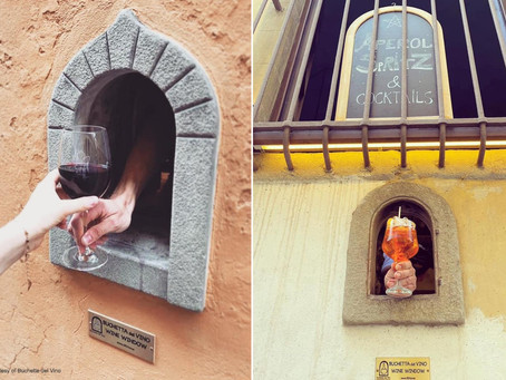 """Medieval """"Wine Windows"""" are Making a Comeback in Italy"""