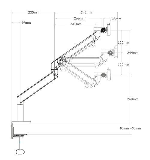 Sway Single Monitor Arm Adjustments