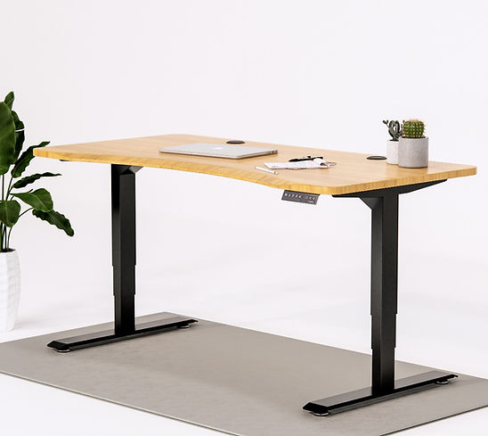 NorticDesk Pro Extended With Bamboo Top