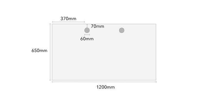 120x65cm Rectangular Table Top